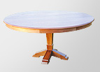 Walnut solid round dining table